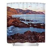 Ka'ena Point Oahu Sunset Shower Curtain