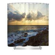 Kaena Point State Park Sunset 3 - Oahu Hawaii Shower Curtain