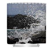 Ka'ena Point Surf Shower Curtain