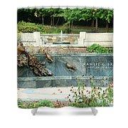 Kahlil Gibran Memorial Garden Shower Curtain
