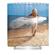 Kaitlin Flying Shower Curtain