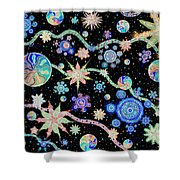 Kalafu In Space Shower Curtain