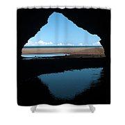 Kalalau Cave Shower Curtain by Brian Harig