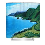 Kalaupapa Peninsula Shower Curtain