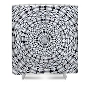 Kaleidoscope 9 Shower Curtain