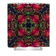 Kaleidoscope Made From An Image Of A Coleus Plant Shower Curtain