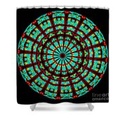 Kaleidoscope Of A Neon Sign Shower Curtain