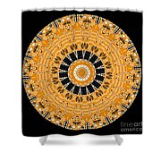 Kaleidoscope Of Computer Circuit Board Shower Curtain