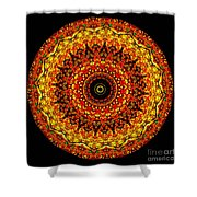Kaleidoscope Stained Glass Window Series Shower Curtain