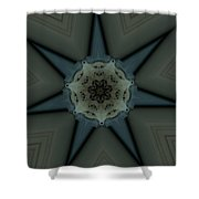 Kaleidoscope Star Shower Curtain