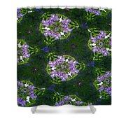 Kaleidoscope Violets Shower Curtain
