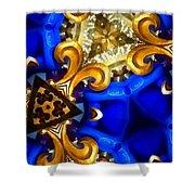 Kaleidoscopic Blues Fdl  Shower Curtain