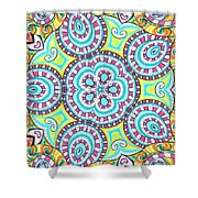 Kaleidoscopic Whimsy Shower Curtain
