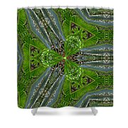 Kalido Plant Fronds Shower Curtain