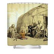 Kalmuks With A Prayer Wheel, Siberia Shower Curtain