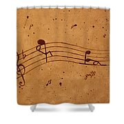 Kamasutra Abstract Music 2 Coffee Painting Shower Curtain