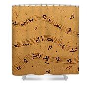 Kamasutra Music Coffee Painting Shower Curtain