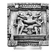 Kamasutra Scene In Khajuraho - India Shower Curtain