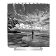 Kanahna Beach Maui Hawaii Panoramic Shower Curtain
