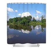 Kanaka Creek Rising - Maple Ridge, British Columbia Shower Curtain
