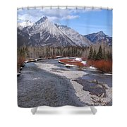 Kananaskis River Shower Curtain