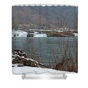 Kanawha Falls - Winter Shower Curtain