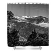 Kanchenjunga Monochrome Shower Curtain