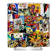 Kandisky Collage Shower Curtain