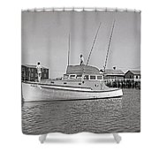 Kandy Of Barnstable Harbor 1950's Shower Curtain