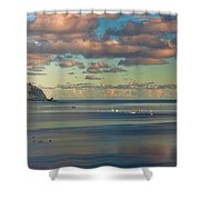 Kaneohe Bay Panorama Mural Shower Curtain