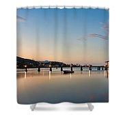 Kaneohe Beach Park Dusk Shower Curtain
