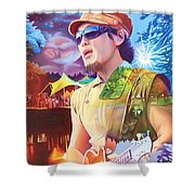 Kang At Hornings Hideout Shower Curtain
