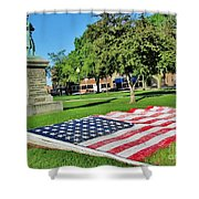 Kankakee Union Soldiers Memorial Shower Curtain