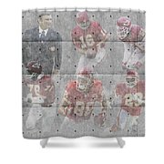 Kansas City Chiefs Legends Shower Curtain