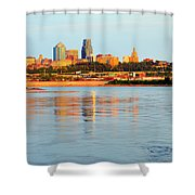 Kansas City Downtown From Kaw Point Shower Curtain