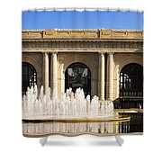 Kansas City Fountain At Union Station Shower Curtain by Andee Design