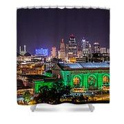 Kansas City In Lights Shower Curtain