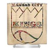 Kansas City Kings Retro Poster Shower Curtain