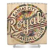 Kansas City Royals Logo Vintage Shower Curtain