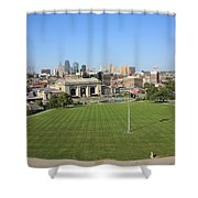 Kansas City Skyline And Park Shower Curtain
