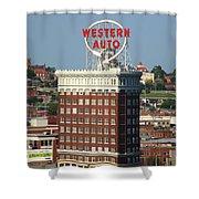 Kansas City - Western Auto Building 2 Shower Curtain