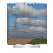 Kansas Country Road With Sky Shower Curtain