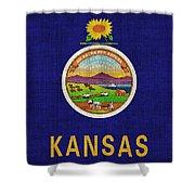 Kansas State Flag Shower Curtain by Pixel Chimp