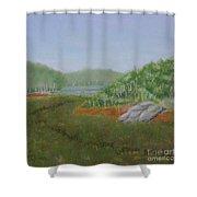 Kantola Swamp Shower Curtain