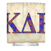 Kappa Delta Rho - Parchment Shower Curtain