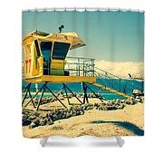 Kapukaulua Beach Lifeguard Station Paia Maui Hawaii  Shower Curtain