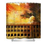 Karachi Port Shower Curtain by Catf