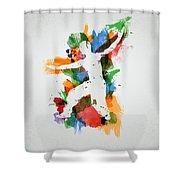 Karate Fighter Shower Curtain