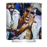 Karate Kui Sun Shower Curtain