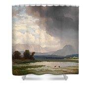 Karawanks Landscape Shower Curtain